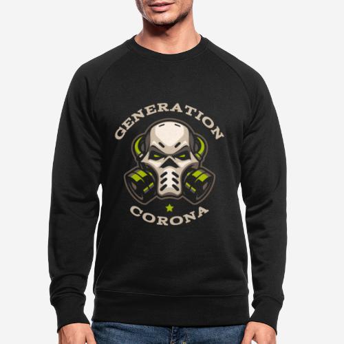 corona generation covid - Männer Bio-Sweatshirt