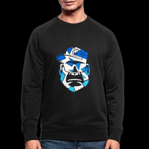 Apez Blue - Männer Bio-Sweatshirt