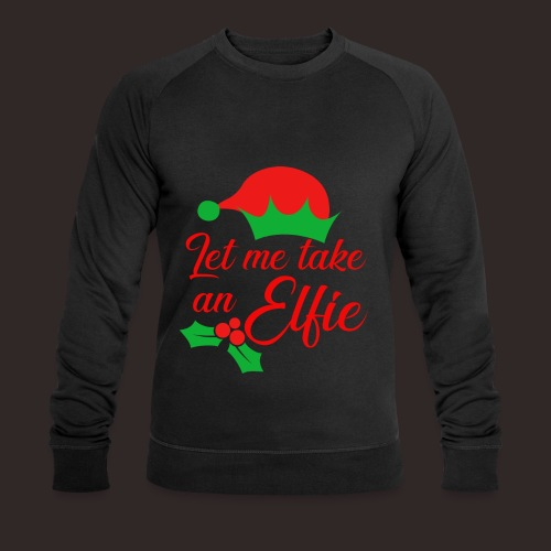Weihnachten   Elf Mütze Weihnachtself Wortspiel - Männer Bio-Sweatshirt von Stanley & Stella