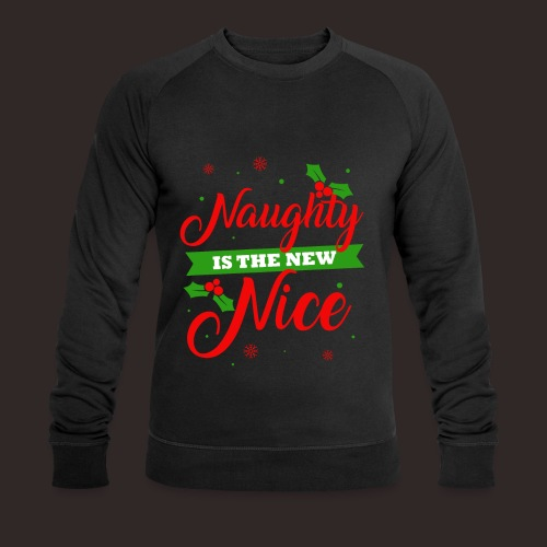 Weihnachten   unartig artig nett - Männer Bio-Sweatshirt von Stanley & Stella
