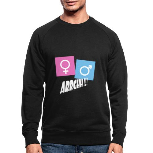 Kønsstereotyper argh - Økologisk sweatshirt til herrer