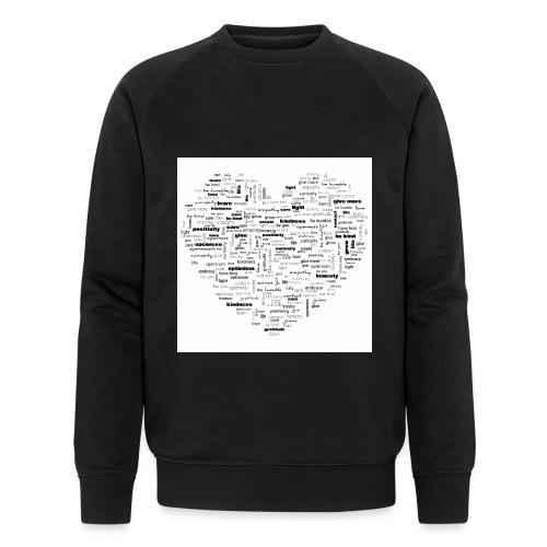 Heart Cluster - Men's Organic Sweatshirt by Stanley & Stella