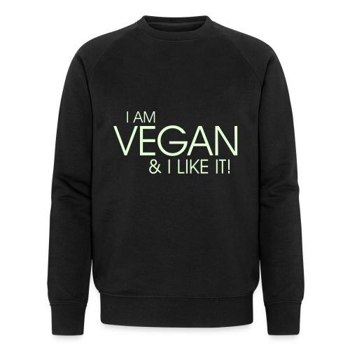 I am vegan and I like it - Männer Bio-Sweatshirt von Stanley & Stella