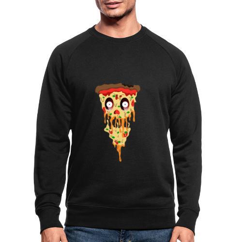 Schockierte Horror Pizza - Männer Bio-Sweatshirt