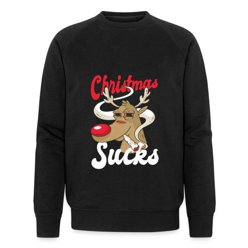 smoking Rentier christmas sucks - Männer Bio-Sweatshirt von Stanley & Stella