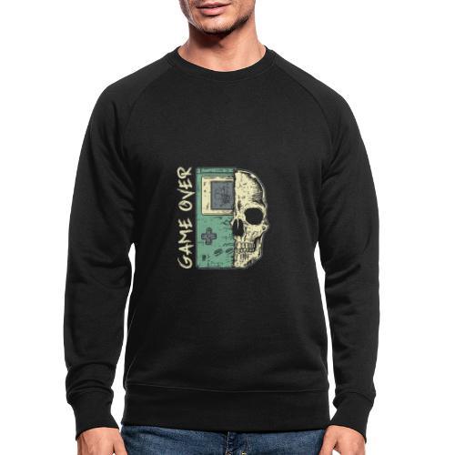 Game over Gaming Spruch Outfit für Zocker Gamer - Männer Bio-Sweatshirt