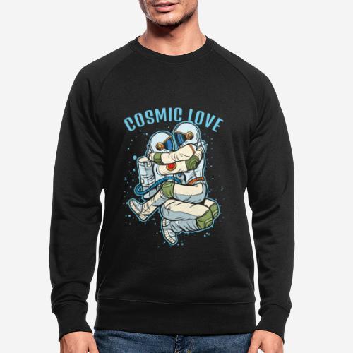 kosmische Liebe Astronautenraum - Männer Bio-Sweatshirt