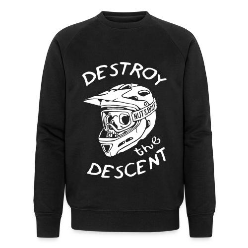 Destroy the Descent - Downhill Mountain Biking - Men's Organic Sweatshirt by Stanley & Stella