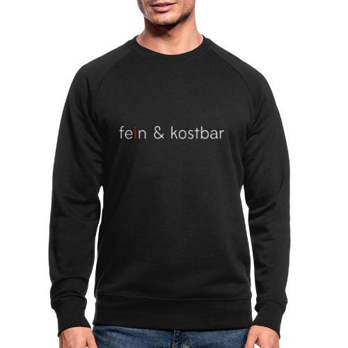 fein & kostbar | Logo | Marke | Merch - Männer Bio-Sweatshirt