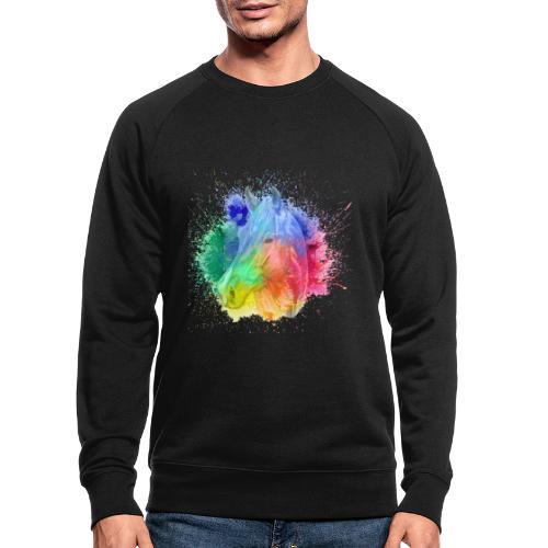 Pferd bunt Reiten - Männer Bio-Sweatshirt