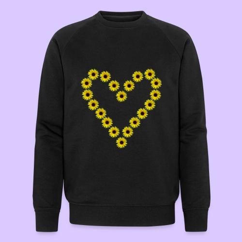 Sonnenblumenherz, Sonnenblumen, Sonnenblume, Herz - Männer Bio-Sweatshirt von Stanley & Stella