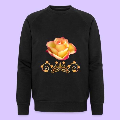 orange Rose, Ornament, Rosen, Blumen, Blüten, edel - Männer Bio-Sweatshirt von Stanley & Stella