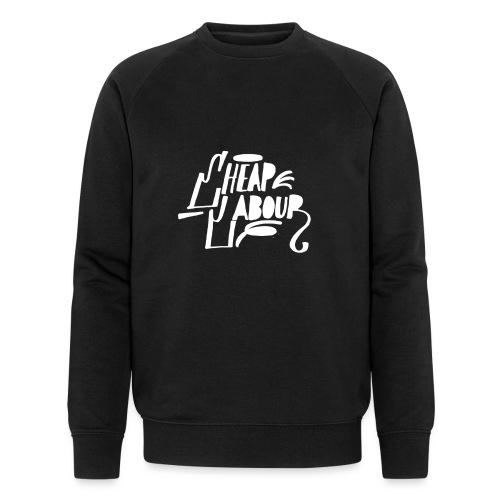 Cheap Labour Basic logo (white on black) - Ekologisk sweatshirt herr från Stanley & Stella