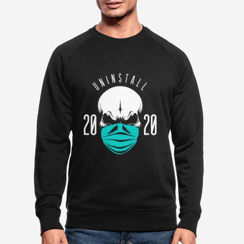 2020 deinstallieren - Männer Bio-Sweatshirt