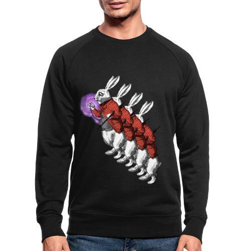 Verstahlter Hase - Männer Bio-Sweatshirt