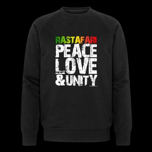RASTAFARI - PEACE LOVE & UNITY - Männer Bio-Sweatshirt von Stanley & Stella
