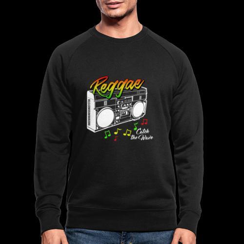 Reggae - Catch the Wave - Männer Bio-Sweatshirt