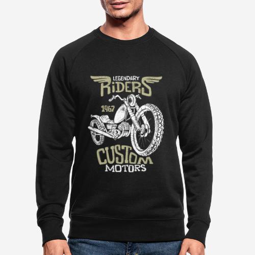 Vintage Biker Motorradfahrer Retro Straße - Männer Bio-Sweatshirt
