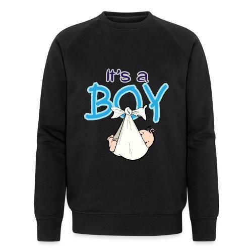 Babyshower Boy Blauw - Mannen bio sweatshirt van Stanley & Stella