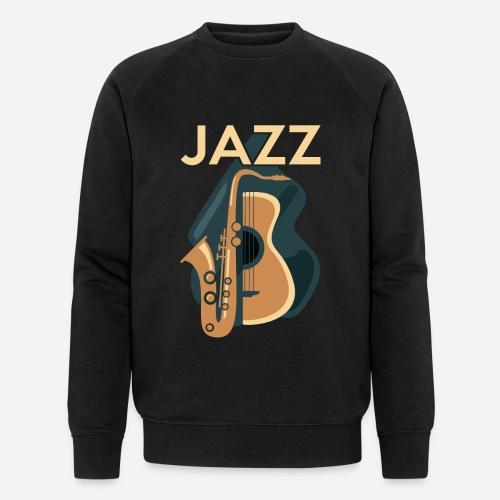 Jazz Gitarre mit Saxophon - Männer Bio-Sweatshirt von Stanley & Stella