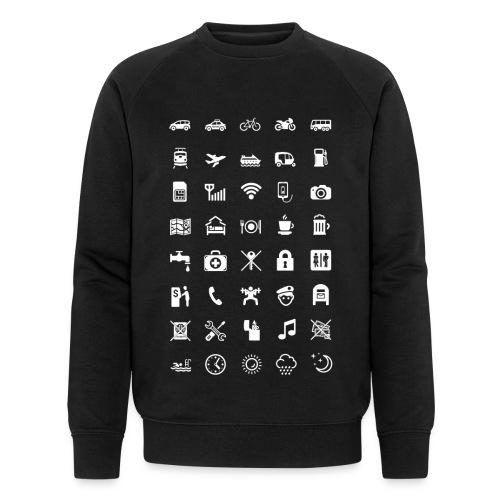 T-shirt för resan med vita ikoner - Ekologisk sweatshirt herr från Stanley & Stella