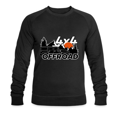 Offroad 4x4 Jeep Logo - Männer Bio-Sweatshirt von Stanley & Stella