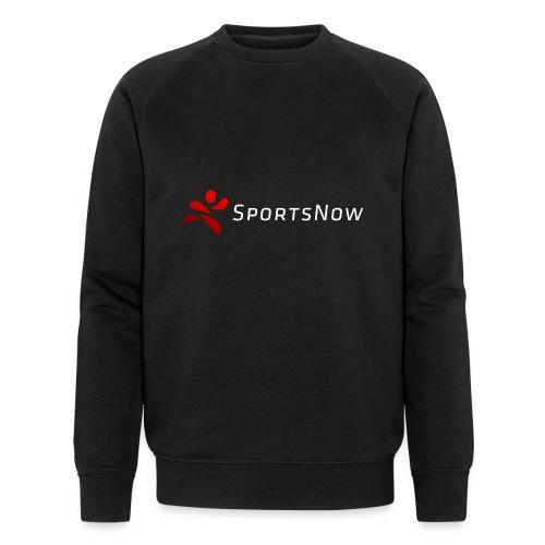SportsNow-Logo mit weisser Schrift - Männer Bio-Sweatshirt von Stanley & Stella