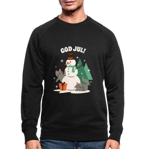 God jul - Økologisk sweatshirt for menn