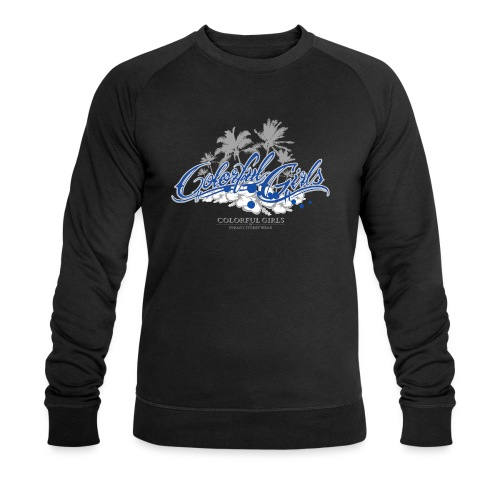 Colorful Girls Logo - Männer Bio-Sweatshirt