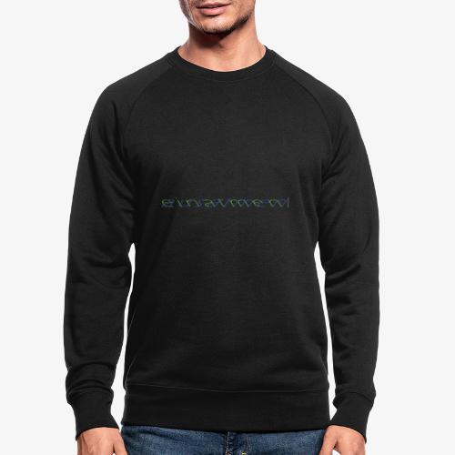 atmen Grün-Blau (m) - Männer Bio-Sweatshirt