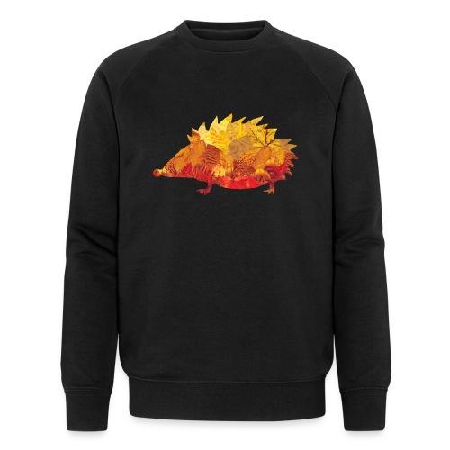 Igel aus Blätter - Männer Bio-Sweatshirt