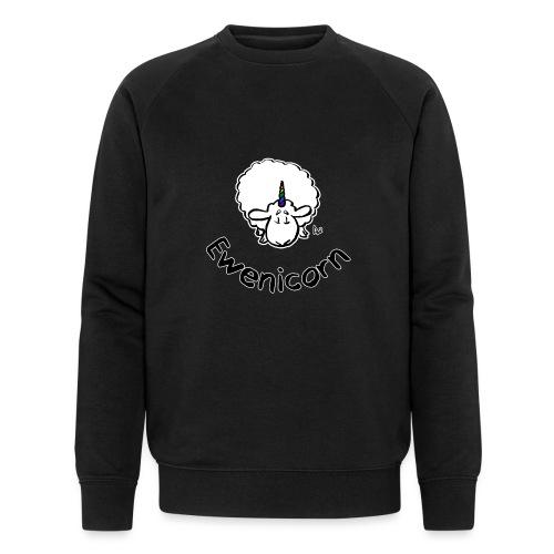 Ewenicorn (svart utgave svart tekst) - Økologisk sweatshirt for menn fra Stanley & Stella