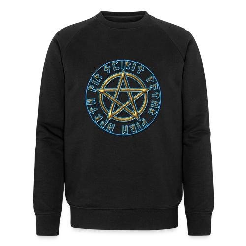 Runen Pentagramm Elemente Schutz Amulett Magie - Männer Bio-Sweatshirt von Stanley & Stella
