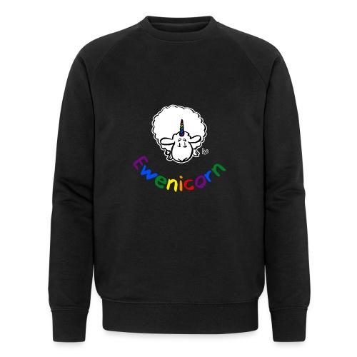 Ewenicorn (regnbuetekst i svart utgave) - Økologisk sweatshirt for menn fra Stanley & Stella