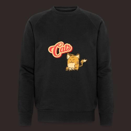 Katze | Katzen süß Schriftzug - Männer Bio-Sweatshirt von Stanley & Stella
