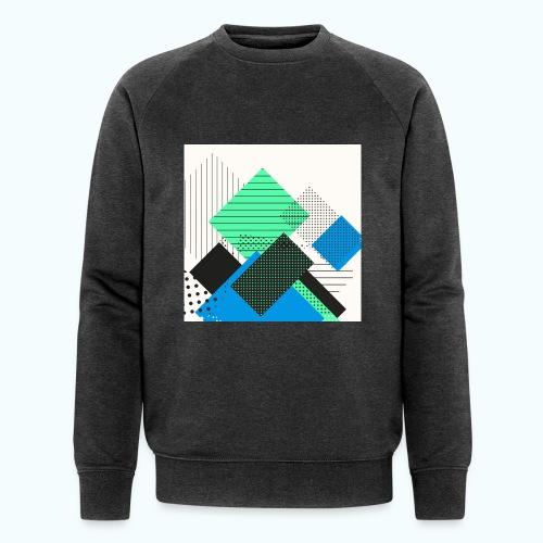 Abstract rectangles pastel - Men's Organic Sweatshirt by Stanley & Stella