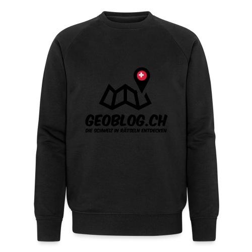 Logo+Schriftzug-hoch - Männer Bio-Sweatshirt