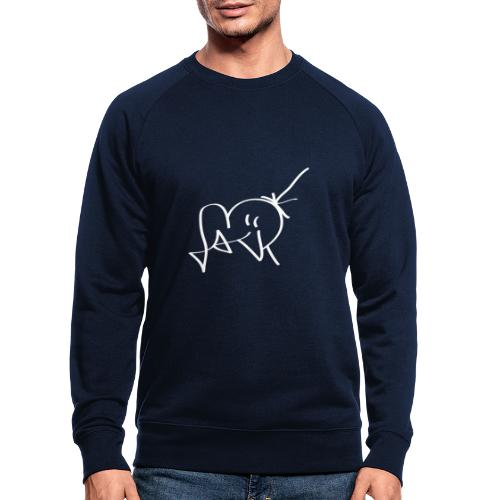 Jackjohannes Hemp signatuur 'Jack' wit - Mannen bio sweatshirt