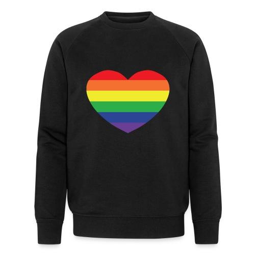 Rainbow heart - Men's Organic Sweatshirt