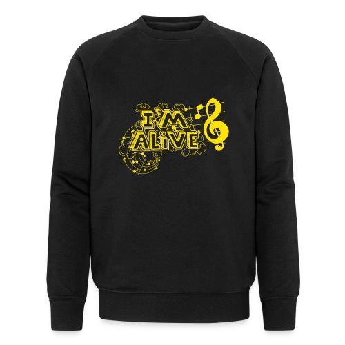i m alive geel png - Mannen bio sweatshirt van Stanley & Stella