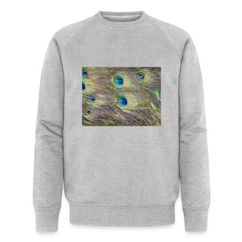 Peacock feathers - Miesten luomucollegepaita