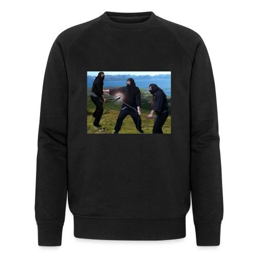 Chasvag ninja - Økologisk sweatshirt for menn