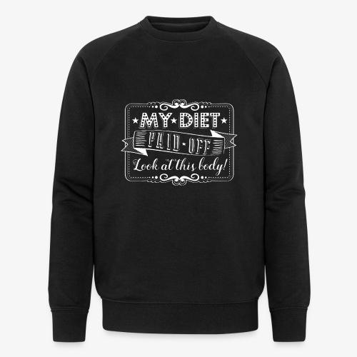 Handlettering My diet paid off (W) - Mannen bio sweatshirt