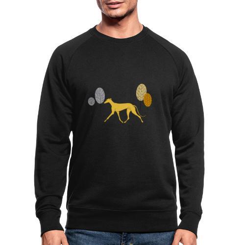 Gelber Windhund - Männer Bio-Sweatshirt