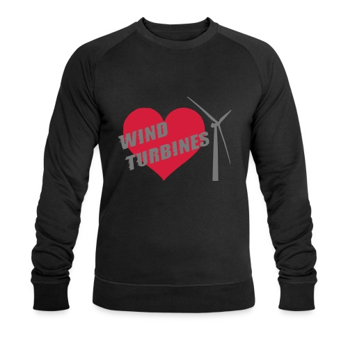 wind turbine grey - Men's Organic Sweatshirt