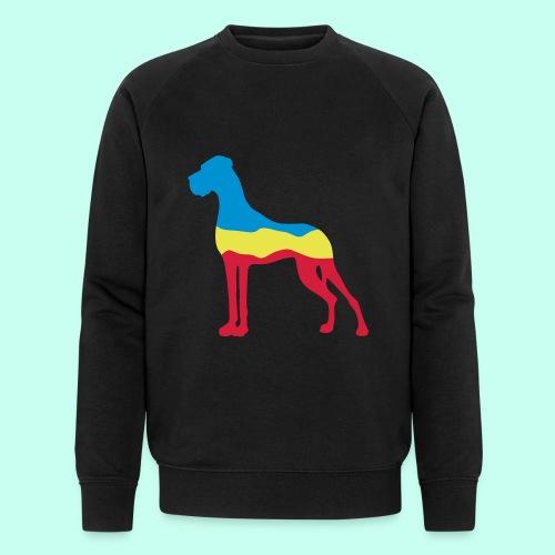 Flaggen Dogge - Männer Bio-Sweatshirt von Stanley & Stella