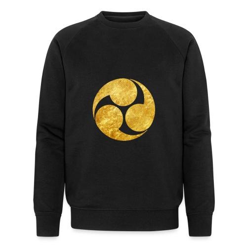 Kobayakawa Mon Japanese clan gold on black - Men's Organic Sweatshirt by Stanley & Stella