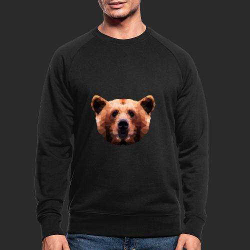Low-Poly Bear - Männer Bio-Sweatshirt