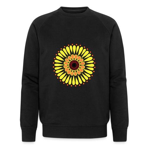Yellow Sunflower Mandala - Men's Organic Sweatshirt by Stanley & Stella