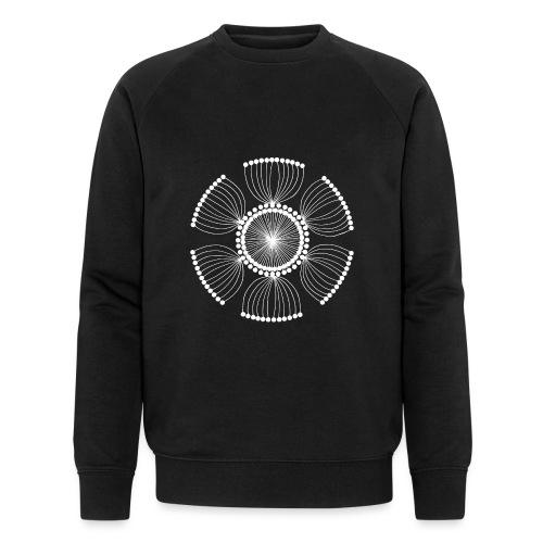 White Poppy Seed Mandala II - Men's Organic Sweatshirt by Stanley & Stella